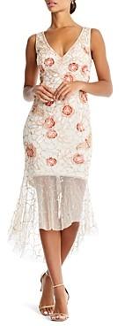 Aidan Mattox Embellished Illusion Dress