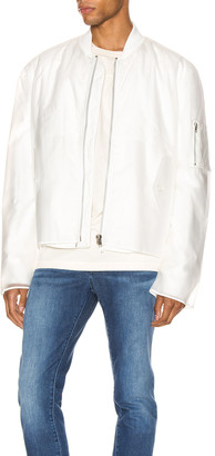 Helmut Lang Transparent Bomber in Clear   FWRD