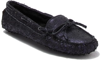 Ross & Snow Caterina Leather and Genuine Shearling Lined Moccasin