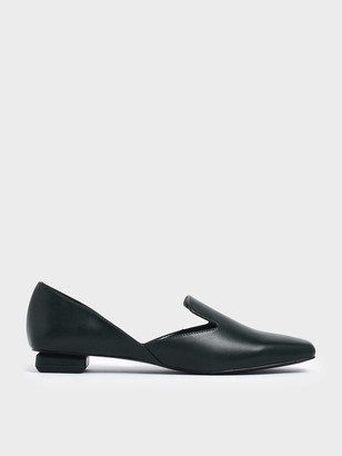 Charles & Keith Square Toe D'Orsay Loafers