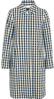 J.Crew Gingham Cotton Trench Coat - Navy