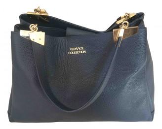 Versace Navy Leather Handbags