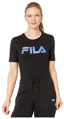 Fila Daisy High Cut Bodysuit (Black/Amparo Blue/Magenta) Women's Jumpsuit & Rompers One Piece
