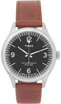 Timex - Waterbury Stainless Steel And Leather Watch