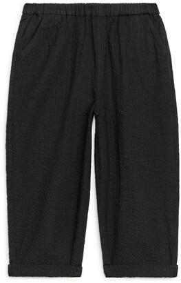 Arket Seersucker Pull-On Trousers