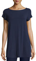 Eileen Fisher Cap-Sleeve Jersey Tunic