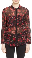 The Kooples Women's Floral Print Blouse