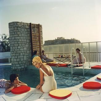"Jonathan Adler Slim Aarons Penthouse Pool"" Photograph"