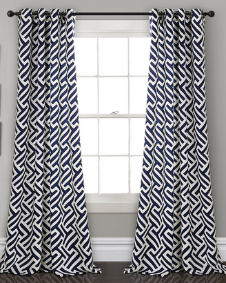Triangle Home Fashion Giovana Room Darkening Window Curtain Panels