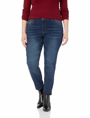 Cover Girl Junior's Plus Size Mid Rise Ankle Skinny Jeans 4 Colors
