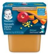 Gerber 2-Pack 2nd Foods® Squash, Apple, and Corn Veggies FirstTM Recipe Baby Food
