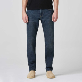 DSTLD Mens Slim Jeans in Blue Worn