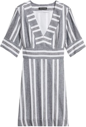 Banana Republic Petite Cotton-Linen Mini Dress