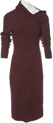Haider Ackermann Burgundy Wool Dresses