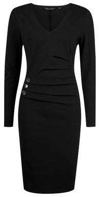 Dorothy Perkins Womens Black Button Bodycon Dress, Black