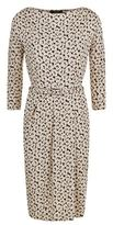 Max Mara Nerone Floral Print Jersey Ruched Dress