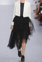 Chloé Cropped crepe and twill blazer