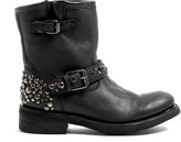 Ash Tornado Studded Buckle Ankle Boots