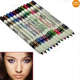 IRISMARU 12 Color Plastic Glitter Lip Eyebrow Eyeliner Pencil Pen Cosmetic Set