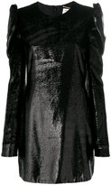 Saint Laurent metallic fitted dress