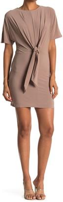 FAVLUX Front Tie Knit Mini Dress