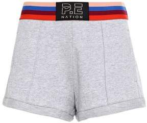 P.E Nation Starting Whistle Melange French Cotton-terry Shorts