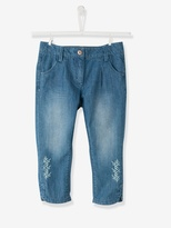 Vertbaudet Girls Cropped Denim Trousers