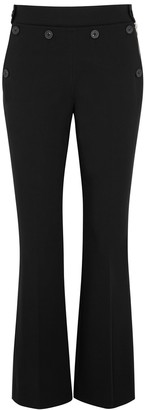 Helmut Lang Black Kick-flared Stretch-twill Trousers