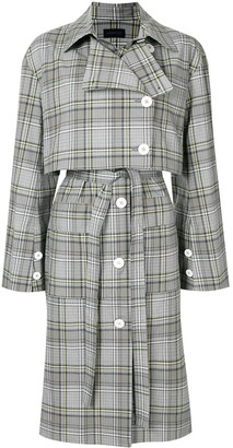 Eudon Choi Lois checked trench coat