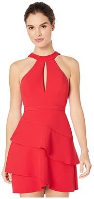 BCBGMAXAZRIA Eve Short Woven Dress (Rio Red) Women's Dress