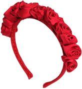 MonnaLisa Grosgrain & Satin Headband W/ Roses