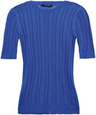 Cushnie Pointelle-knit Top
