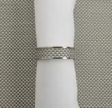 Chilewich Basketweave Napkin Ring 0802-MNBK-WHIT , Aloe by