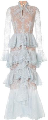 Ingie Paris Ruffled Long Dress