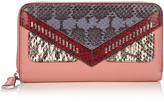 Fendi Bag Bugs zip-around leather and watersnake wallet