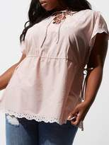 RI Plus Embroidered Detail Top