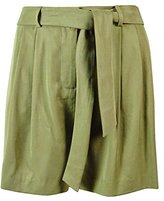 Vince Camuto Women's Belted Shorts with Pleats