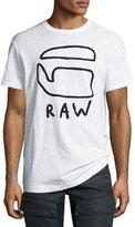 G Star G-Star Eyim Embroidered Logo T-Shirt, White
