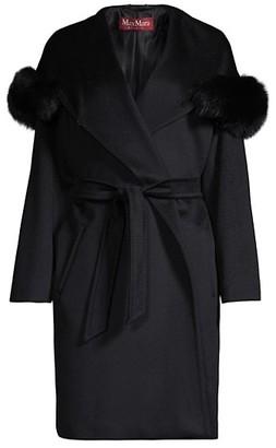 Max Mara 3Mango Wool Fur-Trim Coat