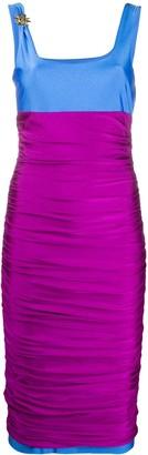 Fausto Puglisi Ruffled Colour Block Dress