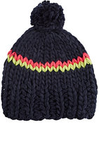 Hat Attack WOMEN'S CHUNKY STRIPED HAT-NAVY