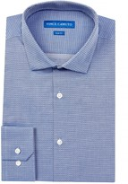 Vince Camuto Oxford Slim Fit Diamond Print Dress Shirt