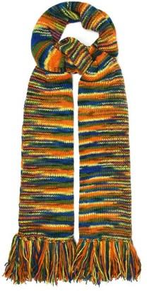 The Elder Statesman Oversized Striped Cashmere Scarf - Multi