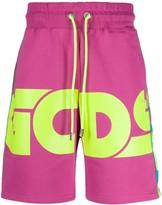 GCDS logo print jersey shorts