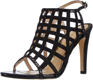 CAFe'NOIR Womens Sandal Ankle Strap Sandals Black Schwarz (010 Nero) Size: 4