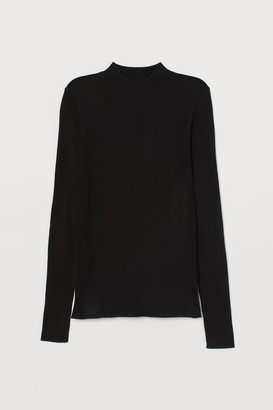 H&M Ribbed Sweater - Black