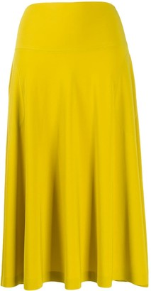 Norma Kamali high waisted draped skirt