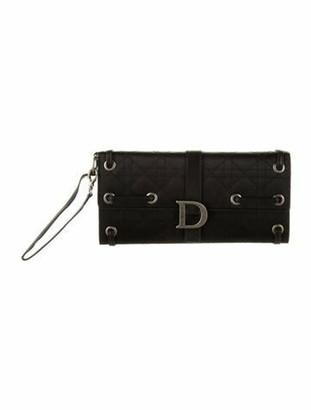 Christian Dior Cannage Flap Clutch Black