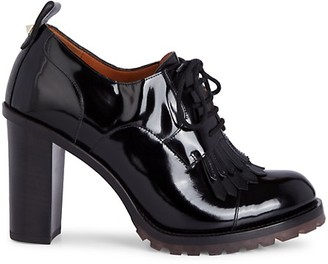Valentino Patent Leather Derby Booties