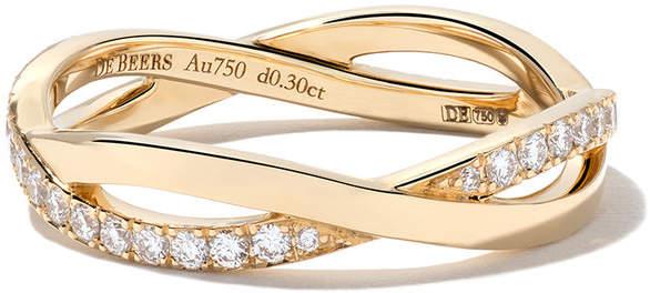 De Beers 18kt yellow gold Infinity diamond band